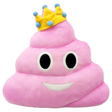 Emoji cushion Design Soft Cushion Pillow Gift for Home Car Camping #11 Defecate, Pink
