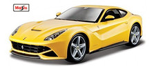 Maisto Bburago 1:24 F12 Berlinetta Yellow Diecast Model Car Toy New In Box Free Shipping