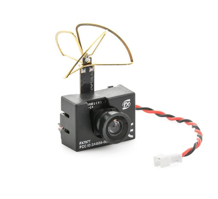 NEW FX798T FPV 5.8G 25mW 40 Channel AV Transmitter With 600 TVL Camera Soft Antenna for DIY FPV Mini Drone RC Quadcopter<br>