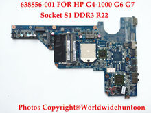 Genuine replacements for HP Pavilion G4 G6 G7 motherboard 638856-001 DA0R22MB6D0 Socket S1 DDR3 2009 CPU support Fully tested