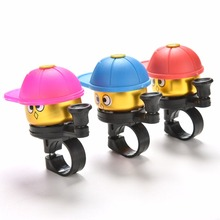 1 PCS Cute*Cartoon Bike Bicycle Cycling Hat Loud Ring Alarm Metal Handlebar Bell Cap Horn Bicycle Free