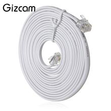 Gizcam High Quality 10m Super Speed RJ11 To RJ11 Telephone Cable Cord 4 Pin 6P4C Plug for ADSL Router Modem Line Fax