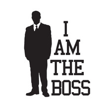 10*13.1CM I AM THE BOSS Car Styling Decorative Decals Personalized Motorcycle Stickers Accessories C8-1519