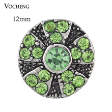 Vocheng Snap Interchangeable Jewelry Accessory Small 12mm Crystal Charms Ginger Snaps (Vn-443) Free Shipping