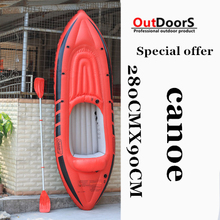 Special thick single person inflatable canoe inflatable boat dinghy thickened hovercraft kayak pvc  fishing boat