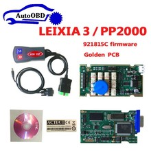 WOWCDP 15pcs DHL Best cheapest lexia3 with golden PCB !!! pps2000 with LED cable pp2000 lexia 3 DIAGBOX serial 921815C firmware(China)