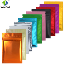 "8.5x13cm (3.25x5"") 100x Matte Blue Red Gold Green Purple Pink Silver Black Translucent Foil Mylar Zip Lock Storage Package Bags(China)"
