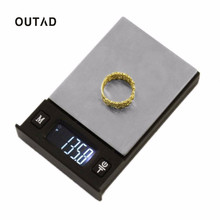 OUTAD Poker Shape Fashion Digital Scale LCD Display High Accurate Precision Gram Balance Portable Electronic Jewelry Scales(China)