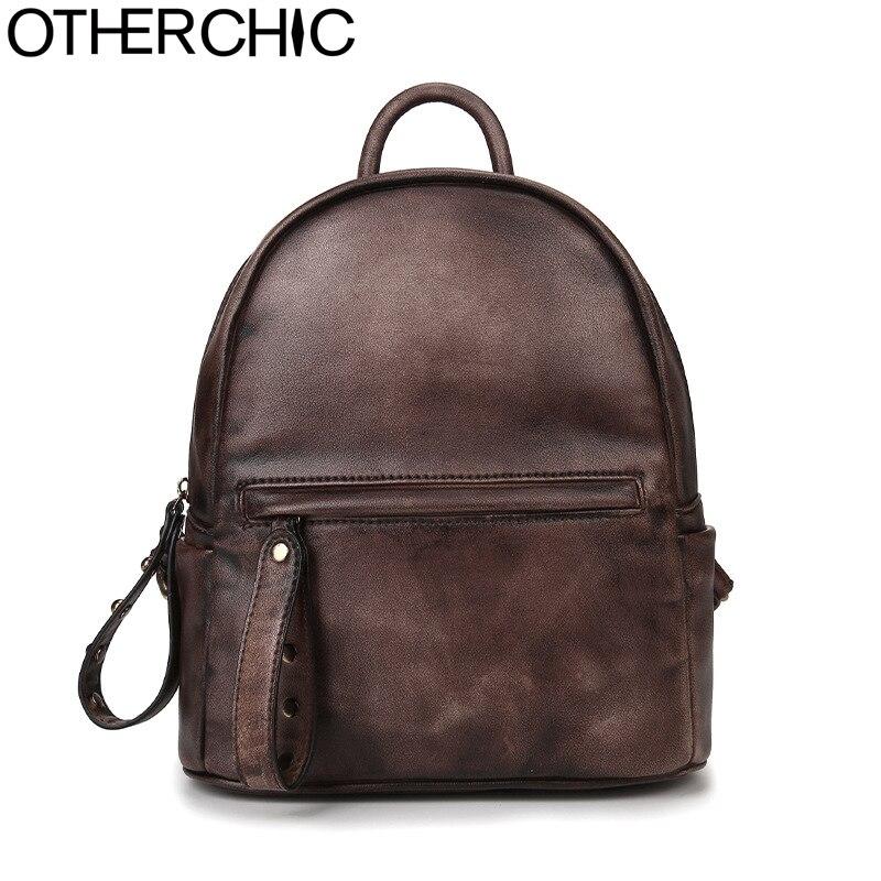 OTHERCHIC Women Vintage Backpack Stylish Backpacks Women Knapsack Ladies Sac a dot a langlaise Fashion Schoolbag 7N04-41 <br>