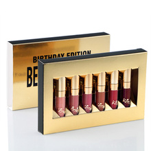 2017 Rushed Real Kkw Kilie 6pcs Matte Lipstick 5star Lip Kit 6mini Brithday Edition Gloss Long Lasting Stick Lipgloss Kyshadow