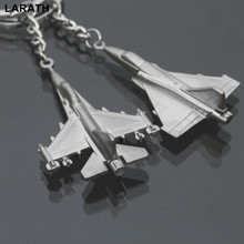 1PC Car Keyring Aircraft Fighter Jets Metal Alloy Warplane Keychains Creative Gift 2 Styles Random Sent(China)