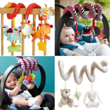 Cute Spiral Activity Stroller Car Seat Cot Lathe Hanging Babyplay Travel Toys Newborn Baby Rattles Infant Toys 2015 New Arrival(China)