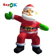 Inflatable Santa Claus 2m/6.5ft High Christmas Decorations for Home 2017 Sitting Santa Claus for Shop Mall or Home Decoration