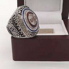 Cost Price Good Quality 2016 Chicago Cubs World Series Championship Ring MVP BRYANT Solid Size 6-15 For fans with Wooden box(China)