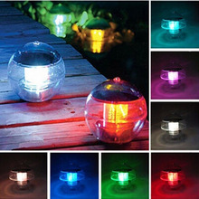 LED Solar Lantern Water Ball Light Colorful LED Floating Yard Pond Garden Pool Night Light(China)