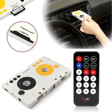 Retro Car Telecontrol Tape Audio Cassette SD MMC MP3 Player Adapter Kit with remote control Portable USB Car Cassette MP3 Player