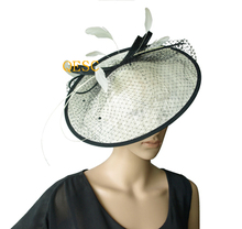 NEW 17 colours Ivory/black Sinamay fascinator hat for kentucky derby ,wedding party