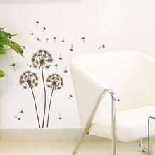 Cartoon Warm Romantic Dandelion DIY Wall Stickers Kids Bedroom Living Room Home Decor Mural Decal Small Size ZS001