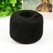 DIY 1 Ply Natural Sisal Twine 2mm Rustic Wedding Decoration 50 Meters Jute Twine Thin Twisted Jute Rope String Cord(China)
