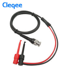 Cleqee P1007 BNC Male Plug Q9 to Dual Hook Clip Test Probe Cable Leads 120CM(China)