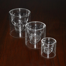 1PC Cool Transparent Crystal Skull Head Shot Glass Cup Home Drinking Tool Whiskey Red Wine Beer Container Fashion Glasses