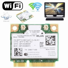 876 м Dual Band 2,4 + 5 г Bluetooth V4.0 Wi-Fi Беспроводной Mini PCI-Express Card для Intel 7260 AC для DELL 7260HMW CN-08TF1D(China)