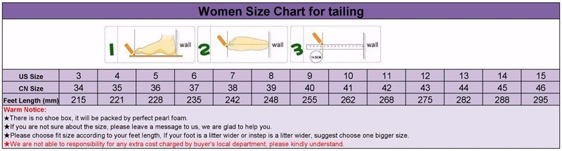 women size for TaiLing