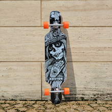 KOSTON pro carving style longboard completes with 8ply canada maple, popular long skateboard completed set for city cruising