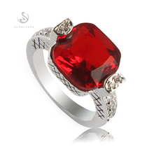 Silver Plated Red stone RING FR3a11 sz# 6 7 8 9 Wholesale Beautiful Trendy Jewelry Favourite Best Sellers Time limited discount