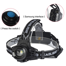 Mayitr Aluminum Alloy Head Bright Torch XM-L T6 LED 3 Modes USB Rechargeable Headlight for Outdoor Camping Household Head Lamp(China)