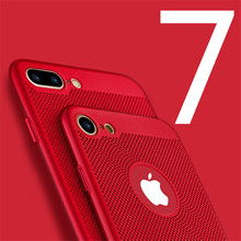 luxury pc matte Protection back cover for iphone 6 6s plus case dissipation Hard Plastic Cases for iphone 7 7 plus phone case