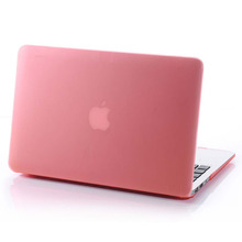 New Ultra Thin Pink Matte Case For Apple Macbook Air Pro Retina 11 12 13 15 Laptop Cover For Mac book 11.6 13.3 15.4 inch