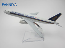 16cm Alloy Metal Air Singapore Airlines Boeing 777 B777 Airways Plane Model Airplane Model w Stand Aircraft Craft Gift