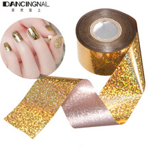 Pro 1Roll Gold Nail Art Stickers Star Mix Color Starry Sky Transfer Foils Decals Decoration For DIY Manicure Design Tools
