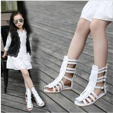 Summer fringe girl sandals Pu leather fashion Roman girls sandals kids gladiator sandals toddler baby sandals high quality shoes