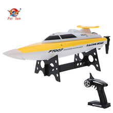 High Quality FEI LUN FT007 2.4G 4CH 20km/h High Speed Wireless Radio Control RC Professional Racing Boat with EU plug Changer(China)