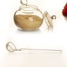 SOLEDI 250ml Glass Jar Candy Home Cooking Sugar Bowl Saleros De Cocina azucarero with spoon free shipping(China)