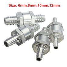 4 Size Valves 6/8/10/12mm Aluminium Alloy Fuel Non Return Check Valve One Way Fit Carburettor