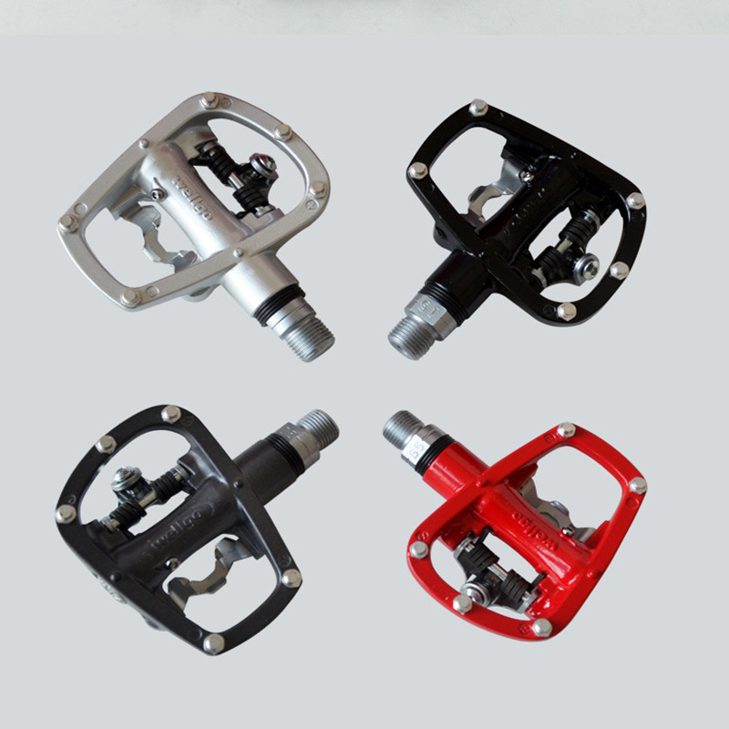 Q301 free shipping WellgoR120B mountain bike self-locking foot pedals double-sided self-locking pedal bicycle pedal<br><br>Aliexpress