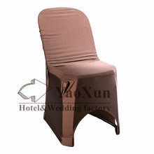 Chocolate Color Plastic Chair Cover \ Lycra Spandex Chair Cover