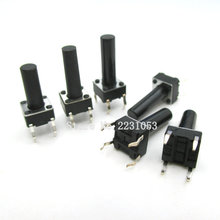 50PCS/Lot Micro Switch 6X6X14 mm DIP-4 Tactile Tact Mini Push Button Switch Momentary 6*6*14 mm