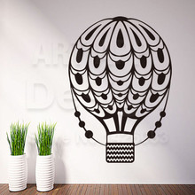 Good quality art new design home decoration hot air balloon vinyl wall sticker removable creative aircraft PVC decals in rooms