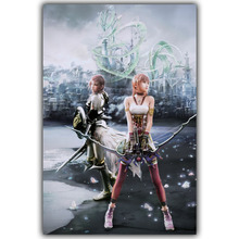 Final Fantasy XIII FF 13 Video Games Poster 12x18 20x30 24x36 inch Silk Canvas Fabric Art Wall Decor Custom Print YX664