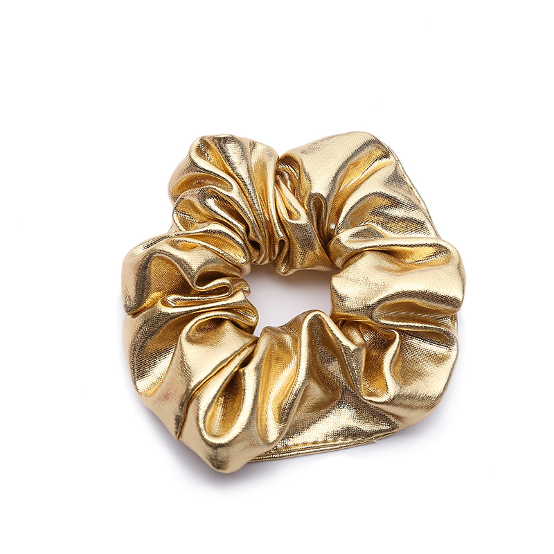 Apparel Accessories Inventive New Arrival Metalic Yarn Lady Hair Tie Silk Gold Lurex Scrunchies Jersey Cotton For Women Hair Accessories Used All Season Refreshment