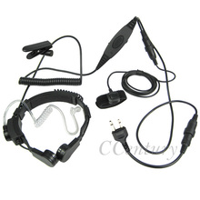 Heavy Duty Military Tactical Air Tube Throat Microphone Mic Headset PTT For ICOM Ham Radio Walkie Talkie IC-A1 IC A2 IC-A3 A4/A5