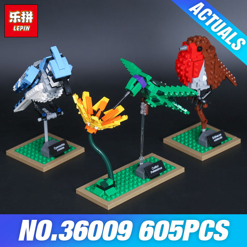 Lepin 36009 Genuine Creative Series The Birds Set Children Educational Building Blocks Bricks DIYToy Model Christmas Gifts 21301<br>