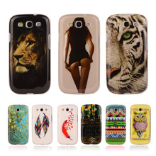 Pattern Rubber Tribe Soft TPU Cover For Samsung Galaxy S3 Neo S III i9300 Duos i9300i i9301 i9305 Mobile Phone Protective Cases