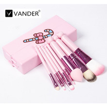8pcs Makeup Brush Hello Kitty Foundation Eyebrow Nose Shadow Eyeliner Concealer Cosmetic Beauty Brush Set