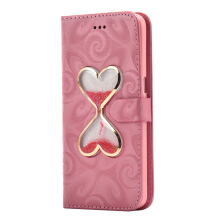PU Leather Double Heart Hourglass Flip Phone Case Bag For Samsung galaxy S5 S6 S7 edge A3 A5 A7 A8 A9 J3 J5 J7 2015 2016 Cover