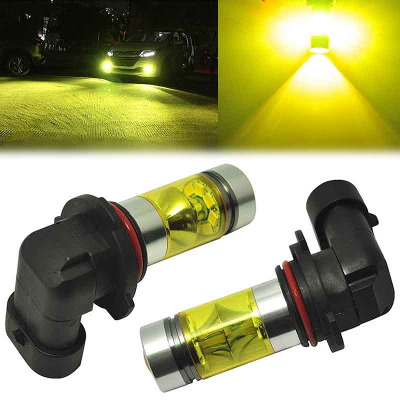 2pcs 9006 HB4 100W LED Bulb Car Fog Driving DRL Daytime Running Fog Light Yellow<br><br>Aliexpress